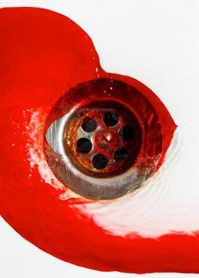 9469753-flusso-di-sangue-nel-lavandino