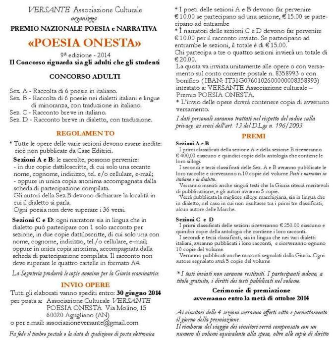 Poesia Onesta  14 Bando-page-001 - Copia