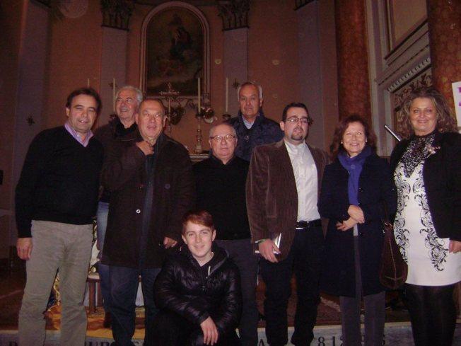 Da sinistra Valtero Curzi, Franco Patonico, Riccardo Manzini, Elvio Angeletti, Gianni Balercia, Lorenzo Spurio, Germana Duca, Marinella Cimarelli