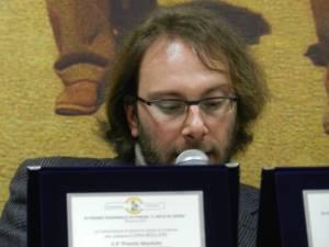 """Iuri Lombardi durante la Premiazione del III Premio Nazionale di Poesia """"L'arte in versi"""" a Firenze nel novembre 2015, dove era parte della Commissione di Giuria"""