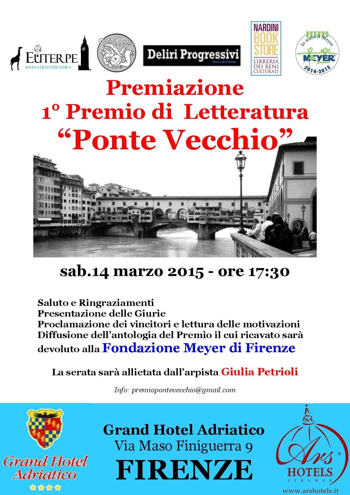 """Premiazione Premio di Letteratura """"Ponte Vecchio"""""""