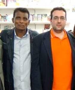 A Palermo nell'aprile 2015 assieme al poeta pakistano Umeed Ali