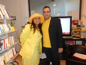 Lorenzo Spurio e Annamaria Pecoraro alla Yellow Reading organizzato a Firenze a settembre 2014