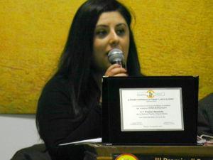 Annamaria Pecoraro durante un momento della Premiazione del III Premio Nazionale di poesia
