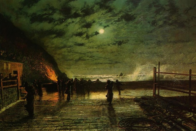 per_Munnu crudili_Grimshaw,_John_Atkinson_-_In_Peril_-_1879_1920