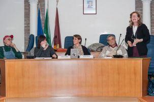 Nella foto in piedi a destra l'assessore alle politiche culturali Tiziana Capriotti