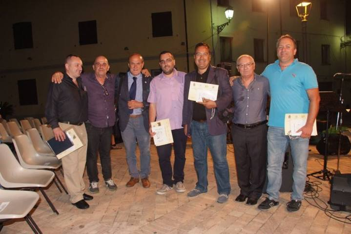 Da sinistra: Michele Izzo, Umberto Coro, Sergio Camellini, Lorenzo Spurio, Michele Miano, Elvio Angeletti, Antonio Maddamma