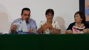 Da sinistra: Lorenzo Spurio (Presidente di Giuria), Susanna Polimanti e Rosanna Di Iorio