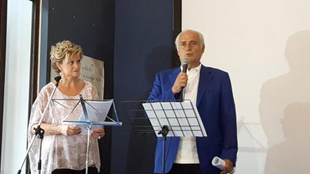 La presentatrice Tiziana Bonifazi e Roberto Mozzicafreddo (Sindaco di Porto Recanati)
