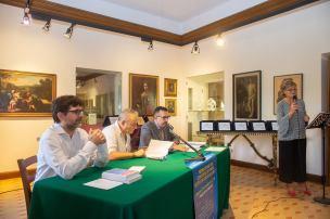 Da sx: Marco Pigliacampo (Segretario), Emilio Mercatili (giurato) e Lorenzo Spurio (Presidente di Giuria)