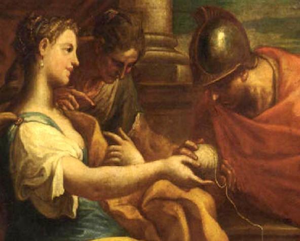 2 - Arianna, Teseo e gomitolo